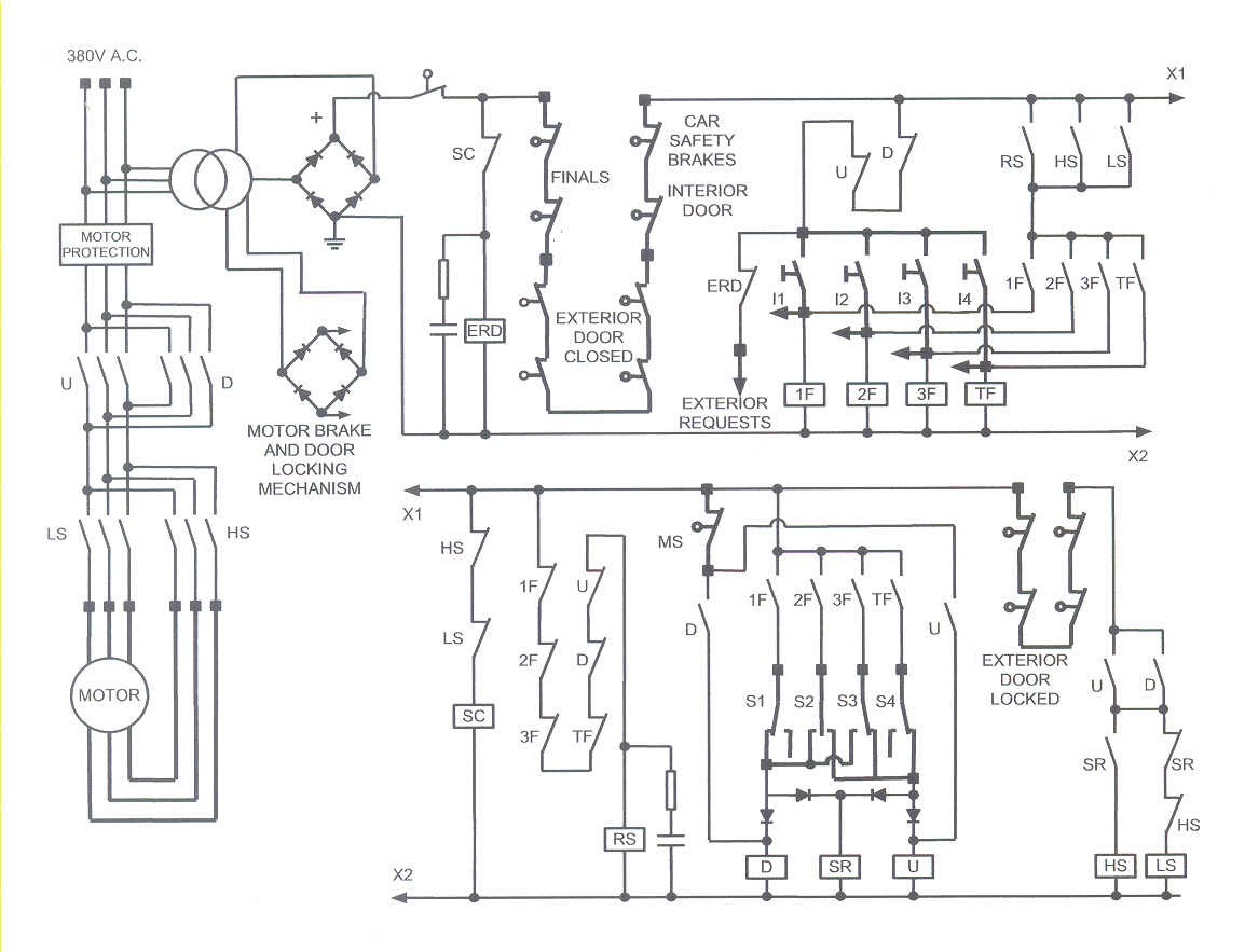 elevator relay circuit diagram