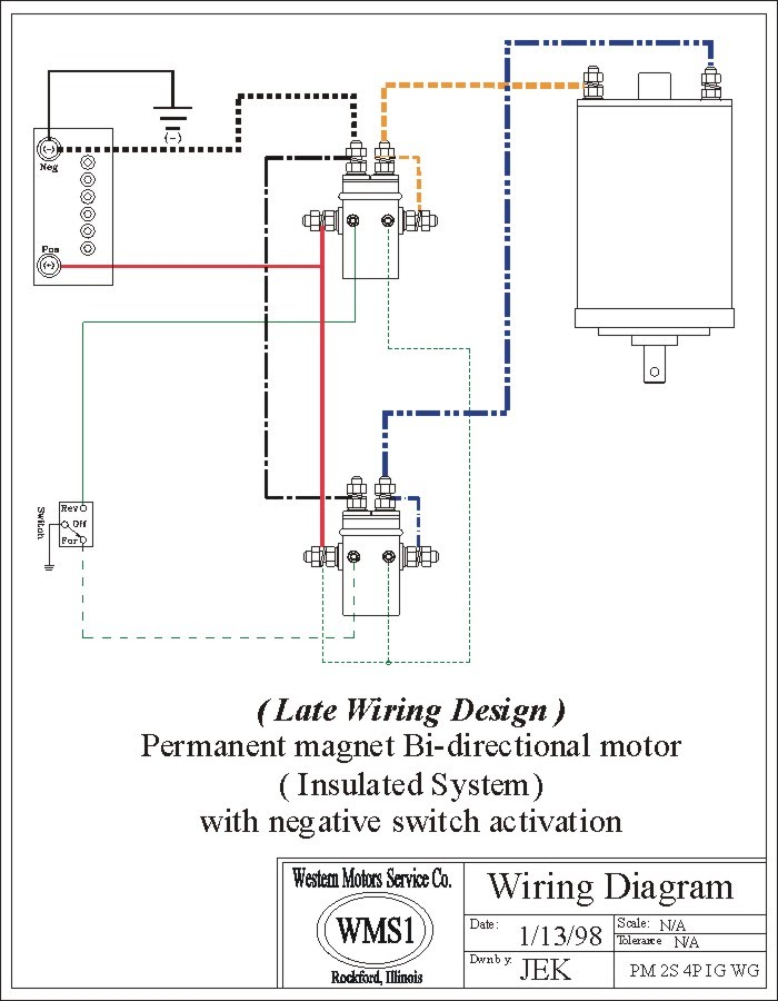 Winch Wiring Diagram Two Solenoid - Wiring Solutions