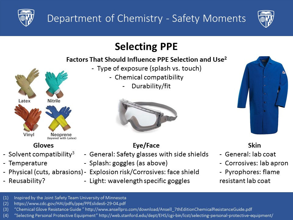 Safety Moments \u2013 Chemistry Student Safety Committee