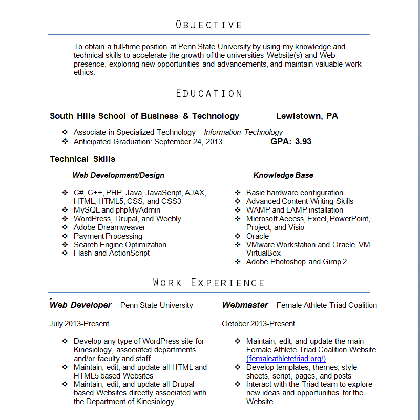 nice the perfect college resume template to get a job ...