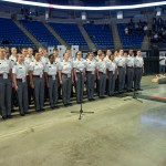The Army West Point Glee Club provided entertainment at the Military Appreciation tailgate at the Bryce Jordan Center. Military Appreciation Day, Penn State vs. Army, Oct. 3, 2015.