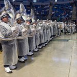 The Blue Band was part of the entertainment lineup for the Military Appreciation tailgate held at the Bryce Jordan Center before the Penn State vs. Army game Oct. 3, 2015.