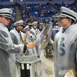 The Blue Band was part of the entertainment at the Military Appreciation tailgate in the Bryce Jordan Center. Penn State vs. Army, Oct. 3, 2015.