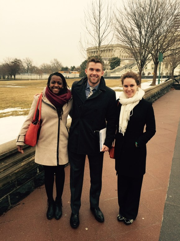 PAPH Lab members visiting Congress to speak about physical activity and public health