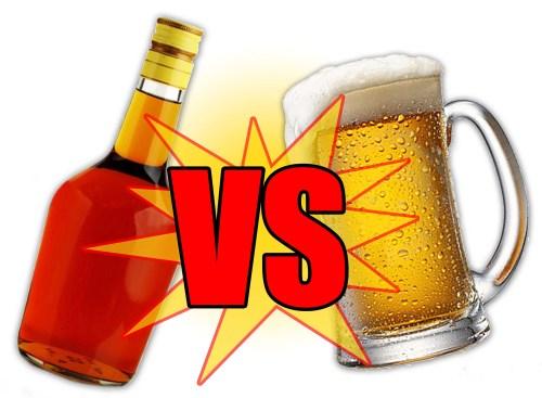 Medium Of Beer Before Liquor