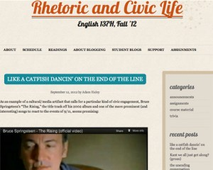 Rhetoric and Civil Life Blog Screenshot