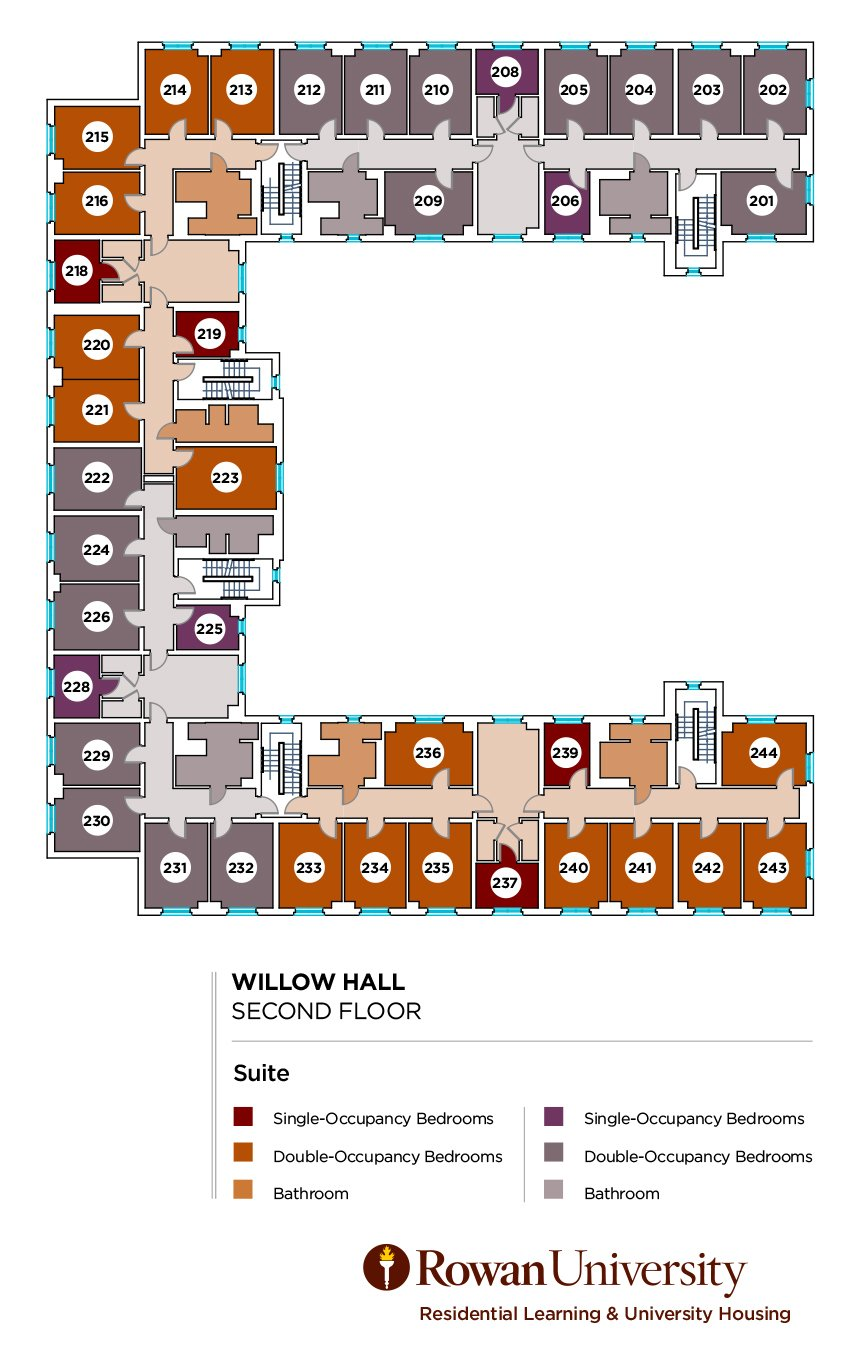 Housing Floor Plans Layout Willow Hall Description | Residential Learning And