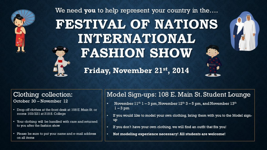 We need YOU for the Festival of Nations 2014! English Language - og and e