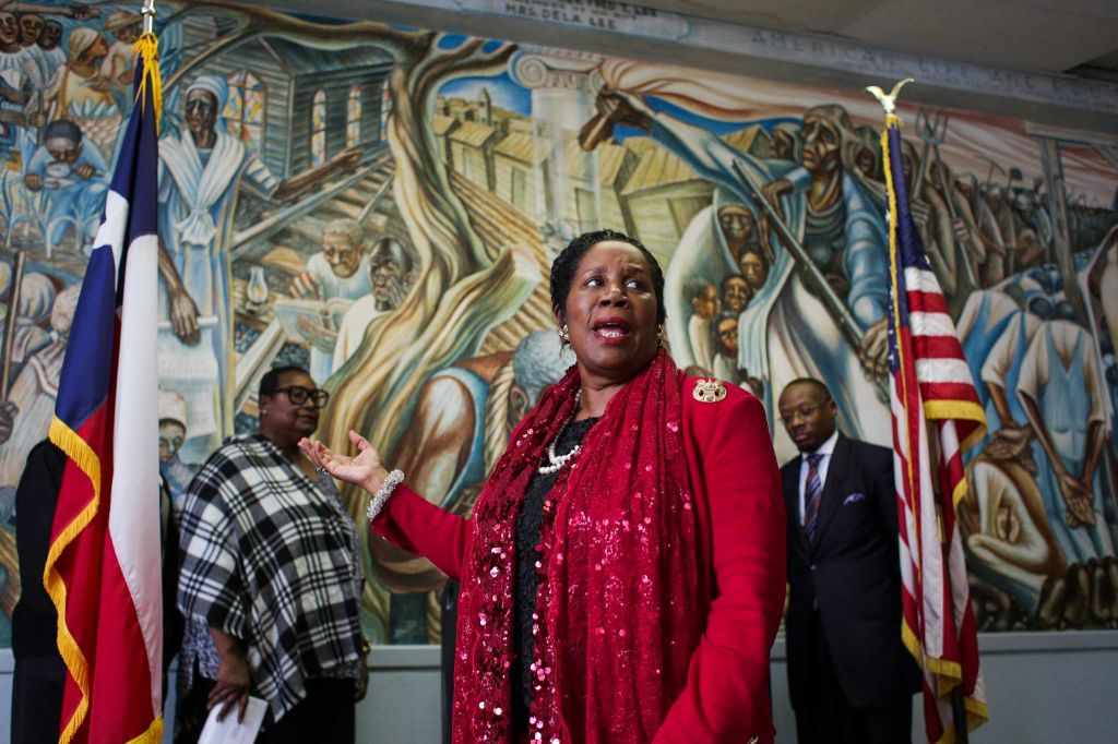 Sheila Jackson Lee at Mural