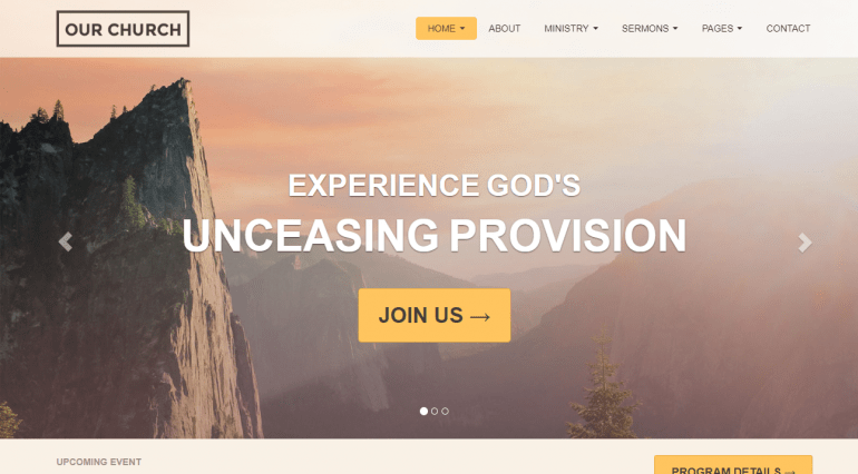 The Best Free Or Really Cheap Wordpress Church Themes Of