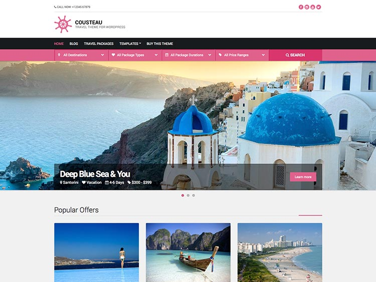 15+ Best WordPress Travel Agency Themes for 2019 - Siteturner