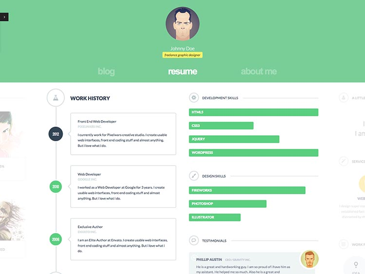 11+ Best WordPress vCard  Resume Themes for 2018 - Siteturner - resume wordpress theme