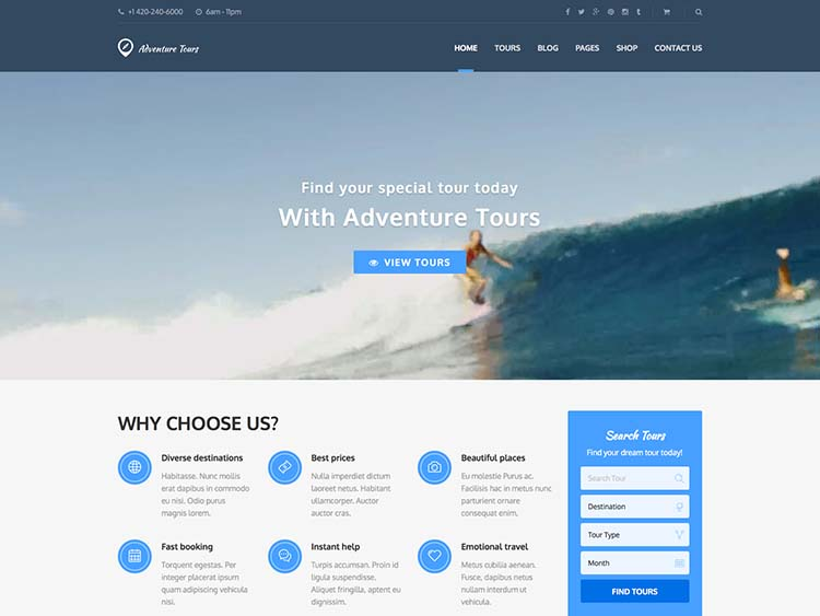 15+ Best WordPress Travel Agency Themes for 2018 - Siteturner - wordpress travel themes