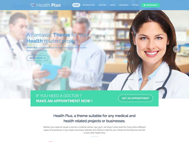 18+ Best WordPress Medical and Health Themes for 2018 - Siteturner