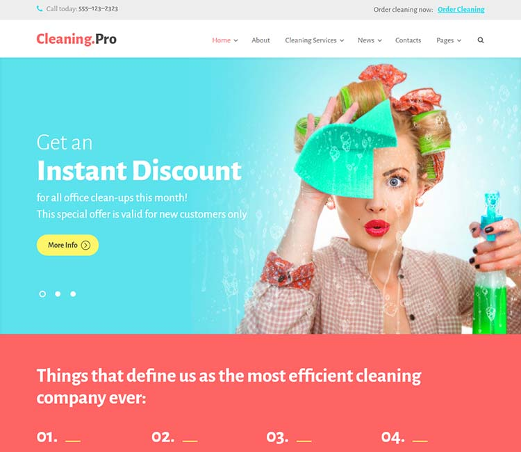 8+ Best Cleaning Services WordPress Themes for 2018 - Siteturner