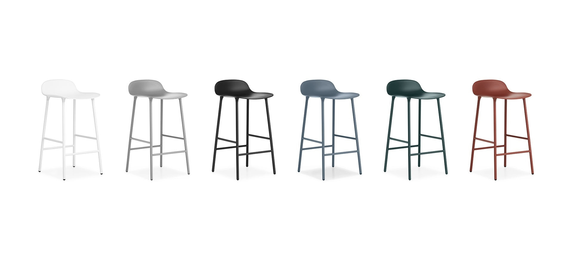 4 Tabourets De Bar Stockholm Tabouret Quotform Quot Version Métallique