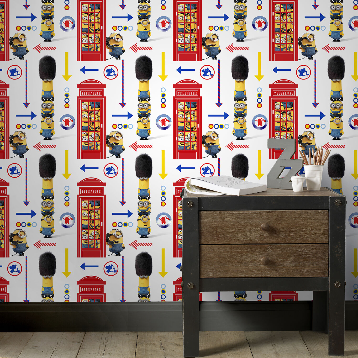 Papier Peint Minions Minions Hello London Wallpaper Grahambrownuk