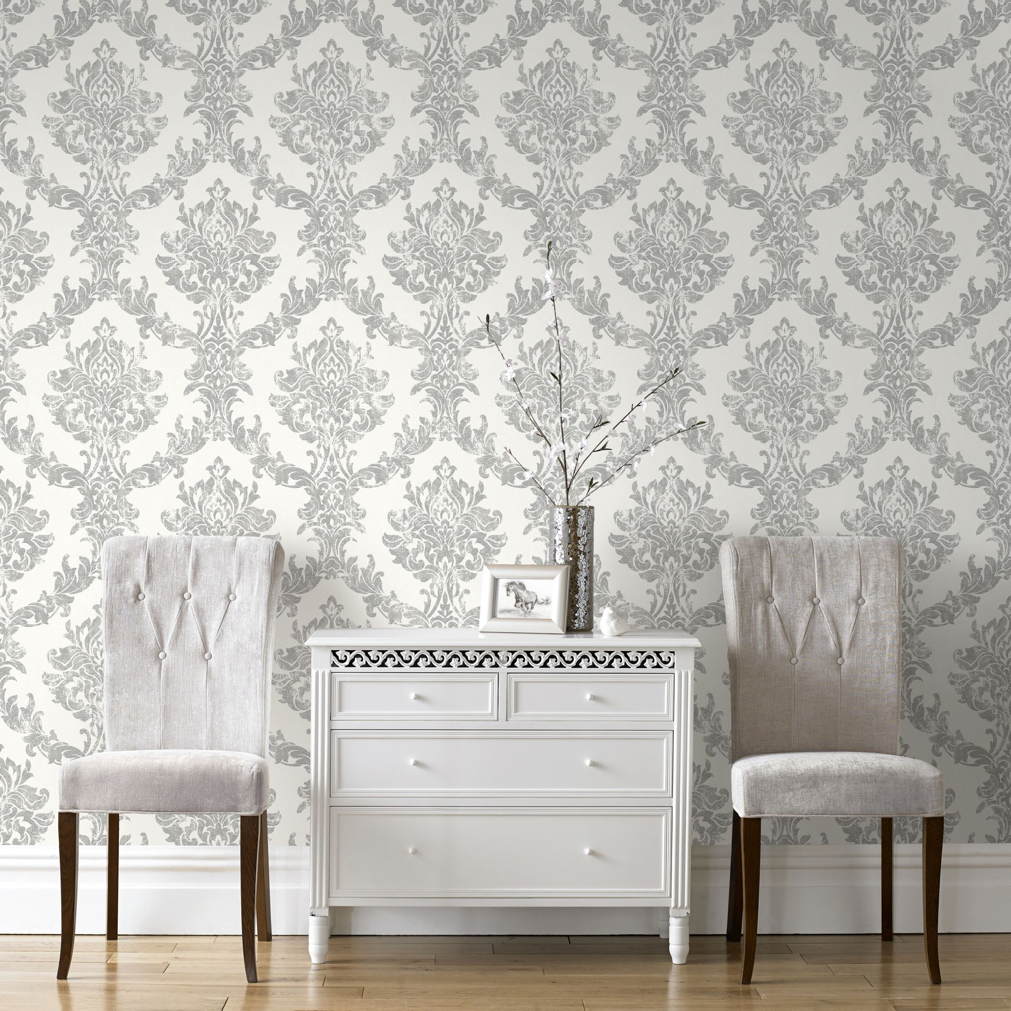 3d Brick Effect Home Depot Brick Wallpaper Opal Damask White And Silver Wallpaper Graham Amp Brown