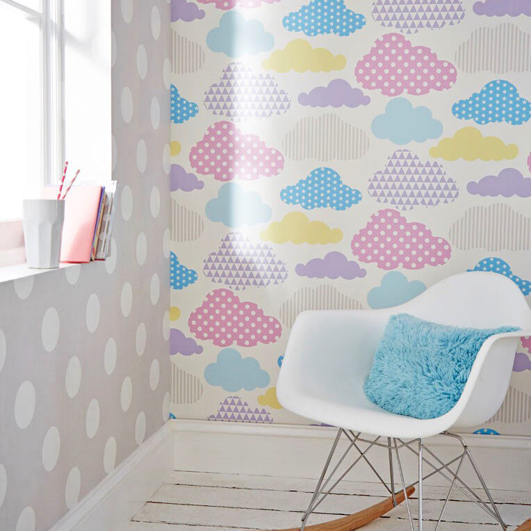 Cloud Wallpaper For Bedroom Marshmallow Clouds Wallpaper Motif Wallpaper Graham