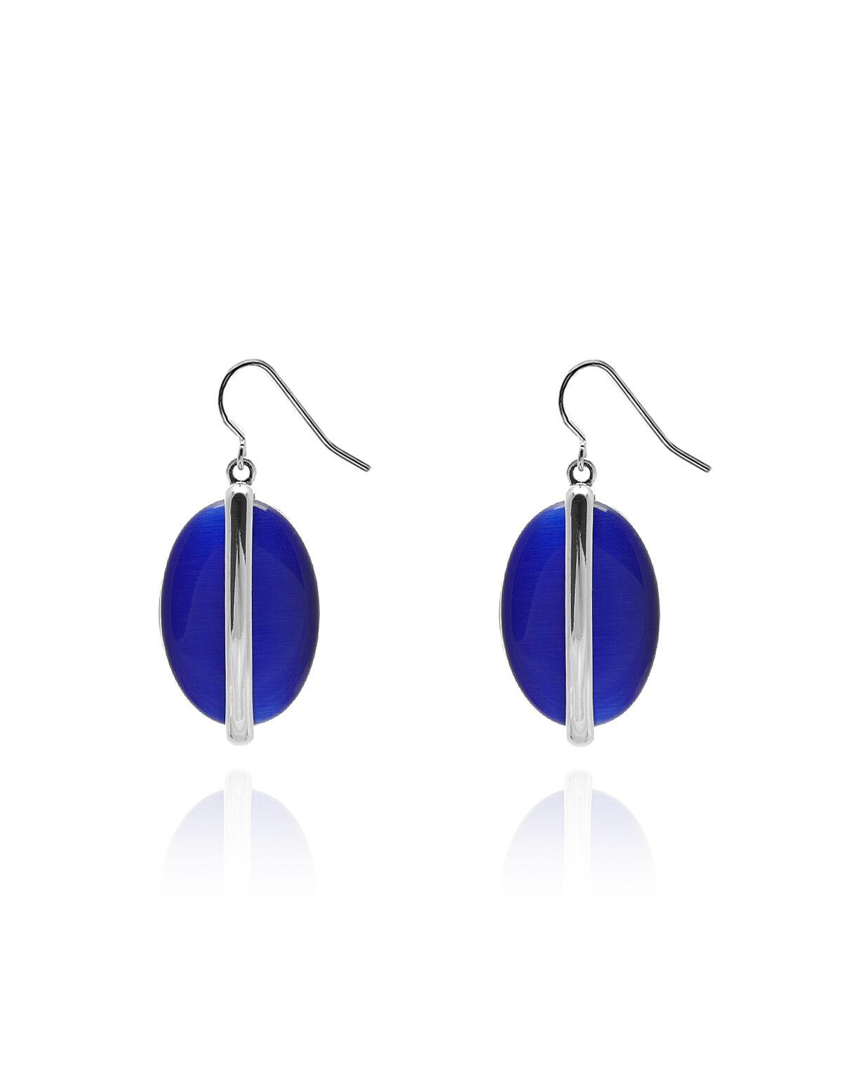Ocean Blue Cateye Earring