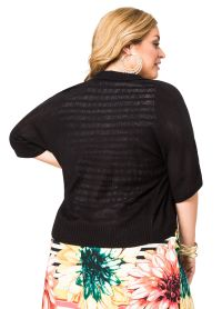 Shawl Collar Shrug-Plus Size Cardigan-Ashley Stewart-042-2687X