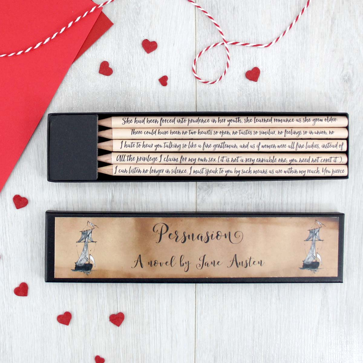Book Lover Gift Persuasion By Jane Austen Literary Quote Pencils And Gifts