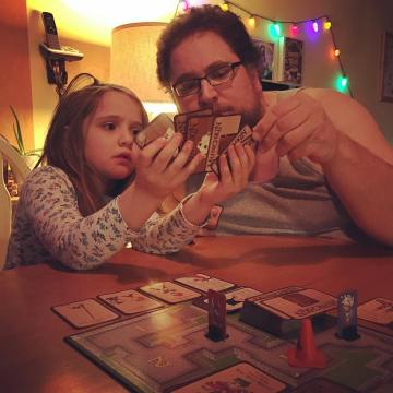 Playing Munchkin before bed