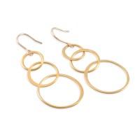 Six Sisters Beadworks - LINDA Gold Loop Earrings, 14K gold ...