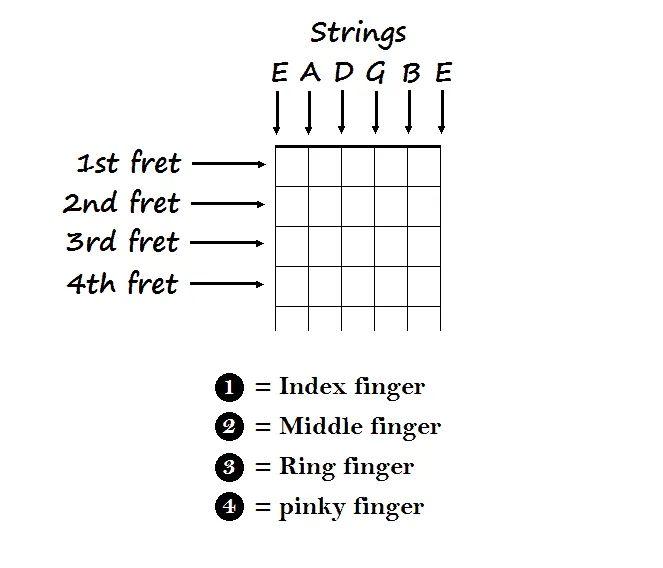 acoustic guitar string diagram