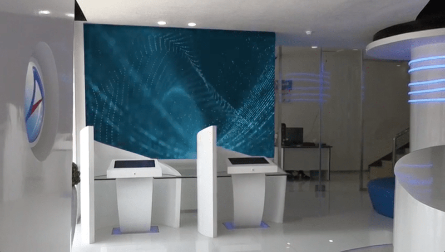 Dsf Bank Right Angle Fine Pitch Led Wall Centerpiece Of Arab National Bank