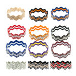New Custom Bling Rhinestone Triple Multi-Color Chevron Stack Bracelets