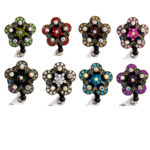 SIZZLE CITY Custom Bling Rhinestone Cherry Blossom Badge Reel Retractable ID Badge Holder