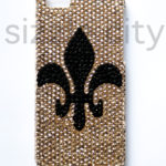 iPhone 5 Bling Rhinestone Fleur de Lis Snap-On Hard Shell Protective Case