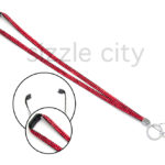 SIZZLE CITY Custom Red Colored Bling Breakaway Rhinestone Lanyards