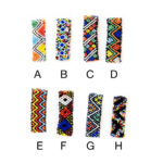 Custom Native American Pattern Seed Bead Elastic Bracelets: Group Shot