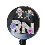 SIZZLE CITY Custom Bling 3D RN Rhinestone Child Badge Reel Retractable ID Badge Holder