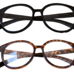 Thick Custom Hand Polished Frame Non-Prescription Retro Nerd Glasses: Group Shot 2