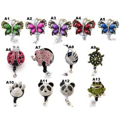 Wholesale Bulk Animal Badge Reel Retractable ID Badge Holder