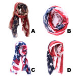 Unisex Old Glory Custom Print American Flag Fashion Scarves: Group Shot