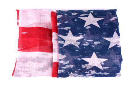 Unisex Old Glory Custom Print American Flag Fashion Scarves: Style B