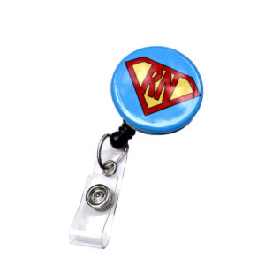 Blue Super RN Retractable ID Badge Holder: Featured Image