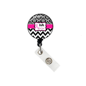 Hope Think Pink Ribbon Badge Reel Retractable ID Badge Holder: Featured Image