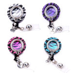 Rhinestone Zebra Bottle Cap Badge Reel Retractable ID Badge Holder: Featured Image