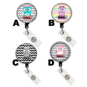 CNA Cute Owl Badge Reel Retractable ID Badge Holder: Featured Image