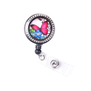 Jeweled Butterfly Charm Locket ID Badge Holder: Featured Image