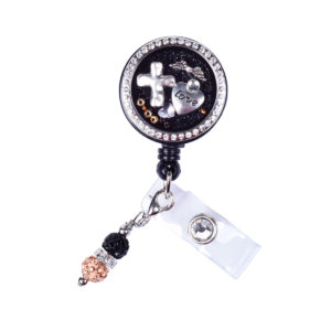 Love Cross Wings Charm Locket ID Badge Holder: Featured Image