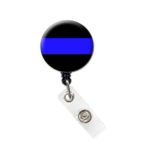 Thin Blue Line ID Badge Reel Retractable Badge Holder: Featured Image
