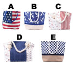 Women's Printed Canvas Beach Bag Purse: Featured Image