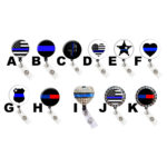 Thin Blue Line Badge Reel Retractable Badge Holder Collection: Featured Image