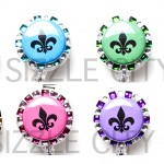 SIZZLE CITY Custom Retractable ID Badge Reels: Fleur de Lis